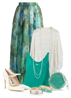 """""""Green"""" by lorrainekeenan ❤ liked on Polyvore featuring Chicwish, 3.1 Phillip Lim, Gianvito Rossi, Marc by Marc Jacobs, The Pearl Quarter, Kate Spade and Fornash"""