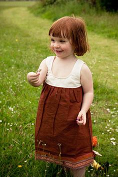 BROWN COTTON DRESS DETAILS   - Excited to offer Minor Addition cute dresses on Mums United