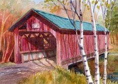 watercolor bridges paintings - Google Search