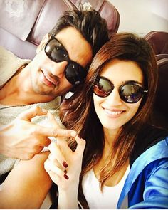 Kriti Sanon and Sushant Singh Rajput off to promote #Raabta in Jalandhar at the PTC AWARDS.…""