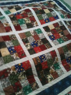 16 block Christmas quilt, donated to the band for fundraising for the train show