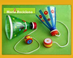 Bilbuquê -  Brinquedo reciclado