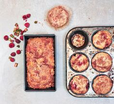 Rhubarb-Raspberry Loaf and Muffins