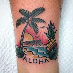 Instagram photo by jenn_matthews - #Aloha everyday ! This ones going back to New Zealand. Nice meeting you and your lady @6mattedwards9. Safe travels. #giti#sailorjerry#jennmatthews#pineapple#diamondhead#hawaii
