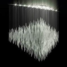 Lasvit – New collections interior design decoration luxury furniture Cool Lighting, Chandelier Lighting, Modern Lighting, Lighting Design, Light Art, Lamp Light, Glass Installation, Tom Dixon, Chandeliers