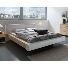 Hasena Selection Bettrahmen Ezzano cm / Wildeiche coffee Alpina / 391 Anthrazit - Best Warm Home Decor ideas Inside Design, White Bathroom, Bed Frame, Real Leather, Leather Bed, Home Furnishings, The Selection, Betta, Home Furniture
