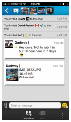 BBM permitirá enviar imágenes a varias personas en chats de grupo y compartir ficheros más grandes