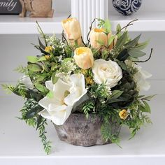 Updates from SimplyStems on Etsy Flower Arrangements Simple, Silk Flower Arrangements, Floral Centerpieces, Table Centerpieces, Deco Floral, Floral Design, Silk Flowers, Beautiful Flowers, Branch Decor
