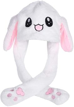 Tinfun Cute Animal Hat/Funny Plush Hat for Kid and Adult with Moving Ears When Pressing The Paws Bunny Hat, Bunny Plush, Cute Bunny, Fashion Idol, Emo Fashion, Funny Animals, Cute Animals, Funny Rabbit, Cute Hamsters