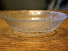 Vintage Glass Solaris Bowl by Tapio by FinntageFromFinland on Etsy