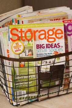 "Entry hall ""drop zone"" mag storage. Blog: My Bella Bug"