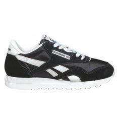 Reebok CL Nylon Womens Running Shoe 6606 Black-White