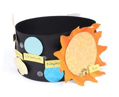 How to Make a Solar System Hat #Science #SolarSystem #SchoolProject