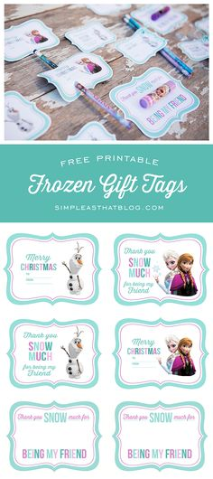 Free Printable Disney Frozen Gift Tags