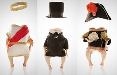historical-chickens: To accompany their story on the history of the chicken as food item, Smithsonian magazine dressed up a few birds as historical figures. Spanning the 10,000 years since the chicken has been used in a culinary capacity, we get the poultry version of anyone from Julius Caesar and Abe Lincoln, to Napoleon.