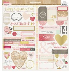 Crate Paper Kiss Kiss Stickers