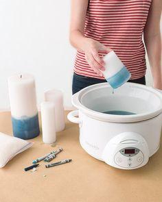 Revamp Old Candles******buy extra thrift store inner bowl for my crock pot*****