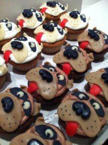 Bull dog cupcakes