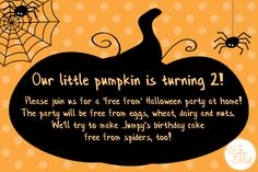 Free From Halloween Party Invitations