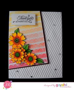 We are so glad to introduce our another add to our Creative Team - Gayatri Viswanathan . Craft Stamps, Card Making Inspiration, Thank You Cards, Creative, Crafts, Design, Ideas, Appreciation Cards, Manualidades