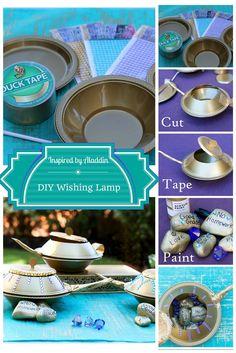DIY Wishing Lamp. Inspired by Disney's Aladdin Diamond Edition. Now on Blu-ray™, Digital HD & Disney Movies Anywhere.