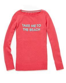 """Lilly Pulitzer Marielle Sweater in """"Take me to the Beach"""" Intarsia"""