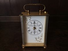 Vintage London Clock Co metal carriage clock Quartz clock circa 1970's Purchase in store here http://www.europeanvintageemporium.com/product/vintage-london-clock-co-metal-carriage-clock-quartz-clock-circa-1970s/