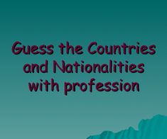 A ppt presentation with 30 famous persons of 30 different countries, including their profession. Great to work with both topics and refresh it with your students. It's a fun guessing game to