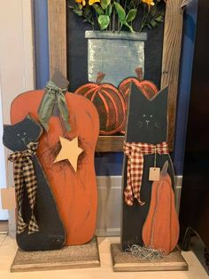 Wooden Board Crafts, Fall Wood Crafts, Halloween Wood Crafts, Fall Halloween, Christmas Crafts, Primitive Country Crafts, Fall Primitives, Fall Craft Fairs, Harvest Crafts