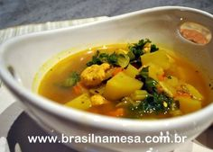 Sopa Emagrecedora de Frango, Batata-doce, Cenoura e Gengibre