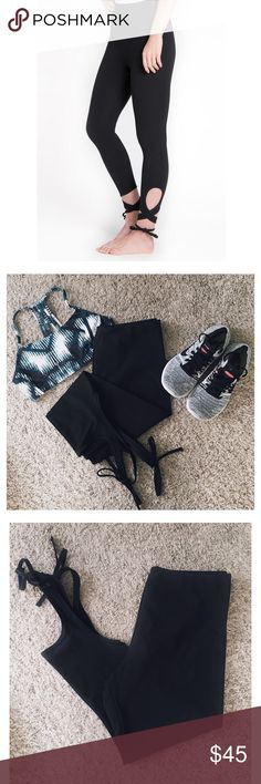 Lyssé Ankle Wrap Leggings High Waisted black ankle wrap leggings. Versatile leggings can be worn to the gym or with heels for a night out. High quality fabric-has built in tummy control and material is stretchy but not see through at all. Never Worn. Lysse Pants Ankle & Cropped