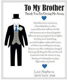 Wedding Gifts For Brother Sweets 26 Ideas gifts for brother Wedding Gif. Wedding Gifts For Brother Sweets 26 Ideas gifts for brother Wedding Gifts For Brother Sweets 26 Idea Brother Wedding Gifts, Wedding Gifts For Bride And Groom, Wedding Day Gifts, Gifts For Brother, Sister Wedding, Bride Gifts, Wedding Cards, Bride Groom, Wedding Stuff