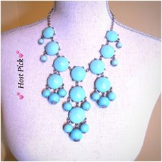 Turquoise Bubble necklace  HP Cute Turquoise bubble necklace from Nordstrom.  Worn only twice. Can be worn long or short as shown. Jewelry Necklaces