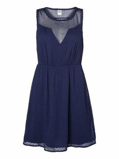 SLEEVELESS BACK DETAILED SHORT DRESS, Peacoat
