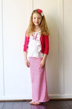 Chevron skirts for girls
