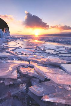 Sunset On Baikal Lake ~ a rift lake located on the south of the Russian region of Siberia