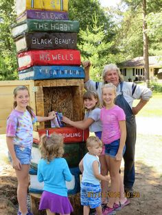 The Little Free Library in Annie Williams Memorial Park