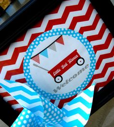 Little Red Wagon Decorations for Birthday Party or Baby Shower - Boys DIY Printable Decor by BeeAndDaisy - Instand Download