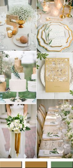 Love the GOLD ribbons in brides bouquet plus add pink ribbon with it. 2017 gold and green wedding color ideas