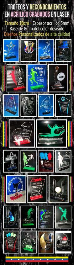 Trofeos Reconocimiento En Acrilico Grabados En Laser 5mm - Bs. 5.000,00 en…