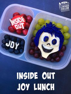 Inside Out Joy Lunch Recipe and Free movie printables! Find out how to make this for your kids! #FandangoFamily #ad