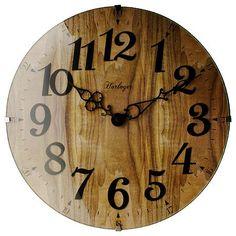 ウッドデザインのお洒落な掛時計