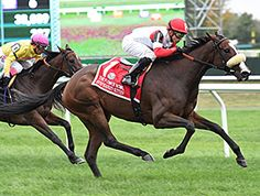 A patient ride by Irad Ortiz Jr. gave Ken and Sarah Ramsey's homebred Stephanie's Kitten her first grade I of the year Oct. 3 at Belmont Park on the soft inner turf course.