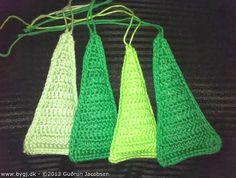 by GJ: DIY - Hæklet juletræ - DIY: Crochet Christmas tree