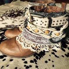 Cowboy boots Upcycled cowgirl western Christmas by LaBohemme