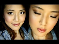An everyday make up tutorial that I love!!  I not only love it because of the look but also because she is Asian. Asians tend to have different types of eyelids (mono-lids for example) or creases that differ from the popular traditional deep set eyes.