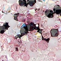 Swarovski Crystal, 4mm Bicone Mix, Elegant Evening
