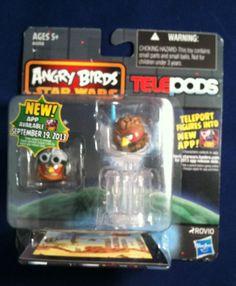 Angry Birds Star Wars Telepods Anakin Skywalker Bird (Podracer) & (Padawan) New