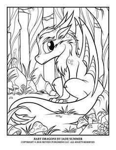 Baby Dragons Jade Summer Dragon Coloring Page Summer Coloring Pages Fairy Coloring Pages