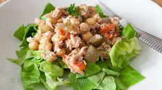 Reteta culinara Salată de ton cu năut din categoria Salate. Cum sa faci Salată de ton cu năut